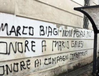 """Scritte su Biagi, pm: """"Apologia di terrorismo"""""""