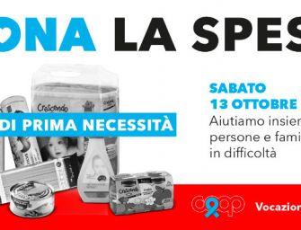 """Sabato 13 ottobre in 318 punti vendita di Coop Alleanza 3.0 """"Dona la spesa"""" per persone in difficoltà"""