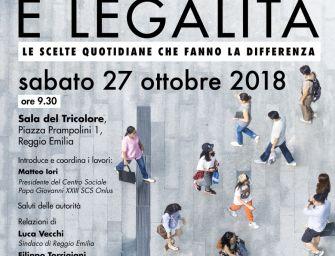 """In Sala del Tricolore il convegno """"Reggiani e legalità"""""""