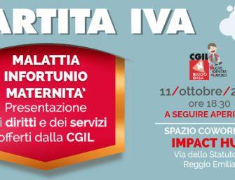 Giovedì 11 ottobre all'Impact Hub di Reggio la Cgil fa il punto sui nuovi diritti per le partite Iva