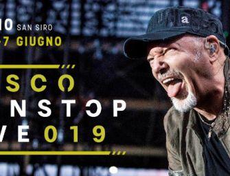 """""""NonStop Live 2019"""", 4 concerti di Vasco a Milano"""