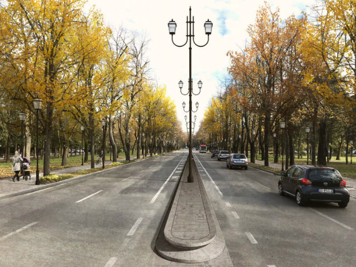 Viale Umberto I - render spartitraffico