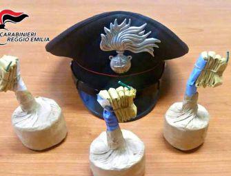San Polo d'Enza, sequestrate tre bombe carta a due giovani di 18 e 20 anni