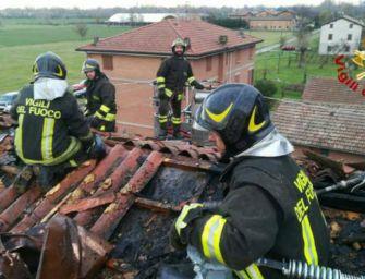 Incendio in un alloggio della cooperativa d'Abramo a Cavazzoli