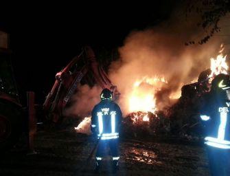 Luzzara, incendio distrugge fienile di un'azienda agricola