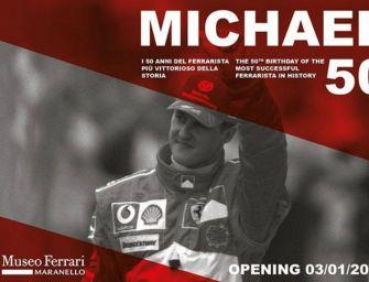 Michael 50, a Maranello una mostra speciale sul campionissimo Schumi
