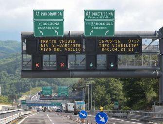 Camion a fuoco sull'A1, chiuso il tratto tra il bivio per A1 Direttissima e Pian del Voglio