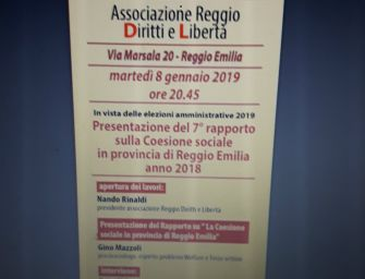 Verso le amministrative, Reggio Diritti e Libertà presenta il rapporto su coesione sociale