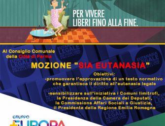 """A Parma +Europa presenta mozione in Consiglio Comunale """"Sia Eutanasia"""""""