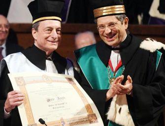 """Draghi a Bologna: """"Uscire dall'Unione Europea non dà maggiore sovranità"""""""