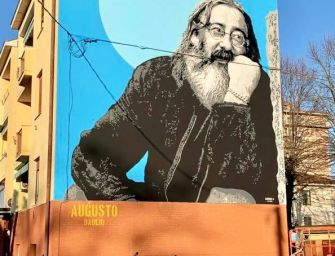 A Novellara un grande murale per Augusto Daolio, ma è polemica con la famiglia