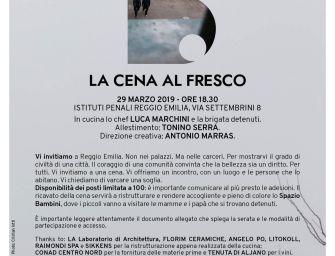 Reggio, solidarietà e diritto alla Bellezza. Una 'Cena al fresco' nel carcere di via Settembrini