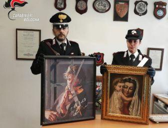 Bologna. Porta a restaurare due quadri rubati, 49enne denunciato per ricettazione