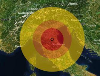 Terremoto di magnitudo 3 nel Bolognese