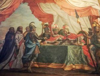 Modena. Palazzo comunale, 'La pace di Costanza' in Sala arazzi