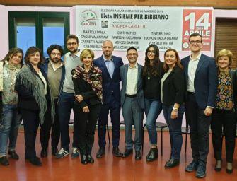 """Presentata la lista """"Insieme per Bibbiano"""" a sostegno di Andrea Carletti"""