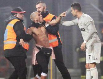 Cristiano Ronaldo al Mapei Stadium, daspo per il suo fan
