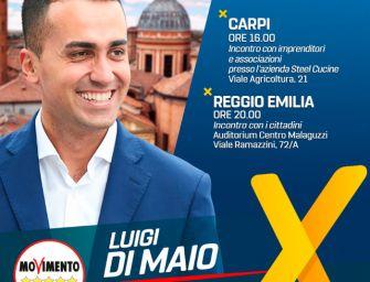 Sabato 18 maggio giornata emiliana tra Carpi e Reggio per Luigi Di Maio