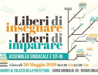 """Giovedì 30 maggio davanti alla prefettura di Reggio sindacati in piazza per il sit-in """"Liberi di insegnare, liberi di imparare"""""""