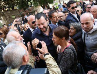 Tour elettorale di Salvini in Emilia