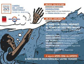 Venerdì 24 maggio alla Cgil di Reggio una giornata sull'immigrazione a sostegno di Mediterranea Saving Humans