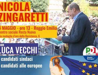 Oggi a Reggio il segretario del Pd Nicola Zingaretti