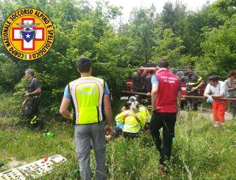 Biker 43enne di Reggio cade sul Monte Fuso, trasportato a Parma in elicottero