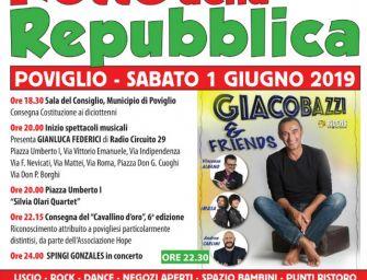"""Sabato primo giugno a Poviglio torna la """"Notte della Repubblica"""""""