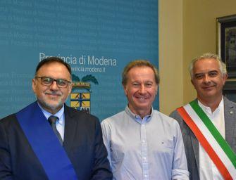 Zocca celebra lo sbarco sulla Luna con l'astronauta Maurizio Cheli