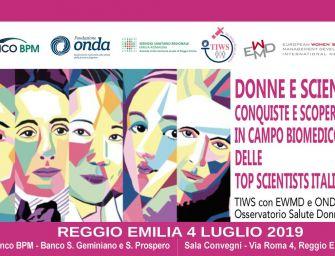 """""""Donne e scienza: conquiste e scoperte in campo biomedico"""" il 4 luglio a Reggio Emilia."""