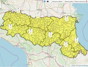 Venerdì 23 agosto in Emilia-Romagna allerta gialla per temporali