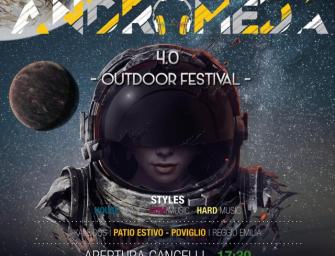 Sabato 31 agosto al circolo Arci Kaleidos di Poviglio l'Outdoor Festival Andromeda 4.0