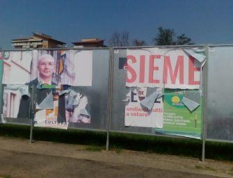 Reggio. I cartelli elettorali non fanno parte dell'arredo urbano. Rimuoveteli