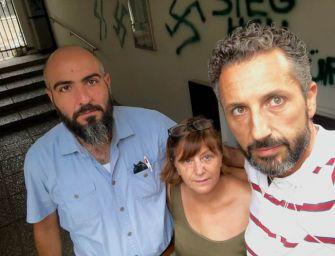 Guastalla, svastiche e minacce sul muro della casa della segretaria del Pd Rossana Gombia
