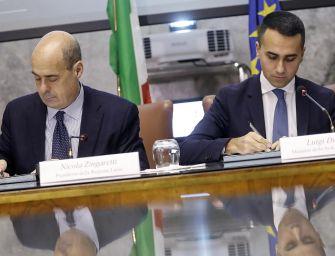 Governo Pd-M5S, incontro tra Zingaretti e Di Maio: il nodo è sul nome di Conte