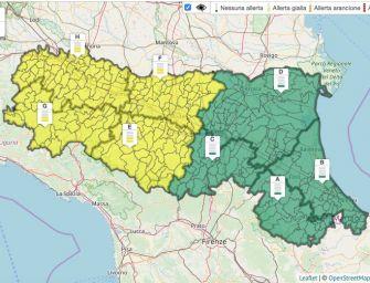 Domenica 8 settembre in Emilia allerta gialla per temporali e piene dei fiumi