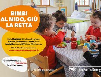 Dalla Regione Emilia-Romagna 18 milioni ai Comuni per abbattere o azzerare le rette dei nidi