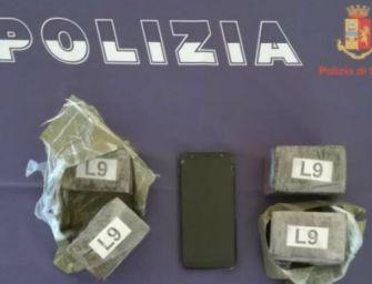 Fermato alla stazione di Sant'Ilario d'Enza con 2 kg di droga