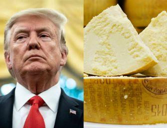 Dazi Usa 25% sul Parmigiano-Reggiano