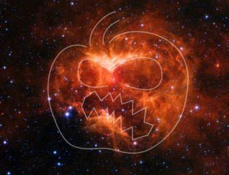 Halloween, dalla Nasa una zucca cosmica ai confini della Via Lattea