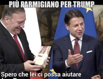Le Iene regalano Parmigiano-Reggiano a Pompeo, gaffe di Conte