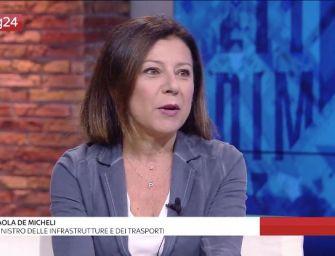 """Passante di Bologna, la ministra De Micheli: """"L'opera sarà sbloccata a breve"""""""