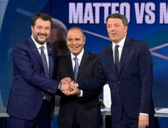 Renzi e Salvini tra veleni e battute in tv