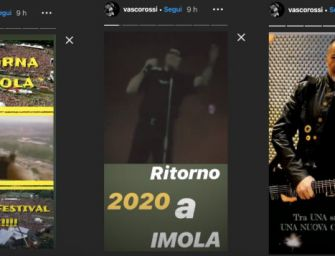 A luglio 2020 Vasco Rossi torna a Imola con un festival rock