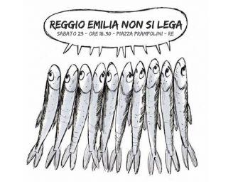 'Reggio Emilia non si Lega', le sardine sabato in città
