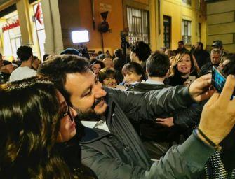 Il capo della Lega Matteo Salvini domenica è a Castelnovo Monti