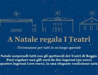 Per tutto il mese di dicembre in vendita le gift card della Fondazione I Teatri di Reggio