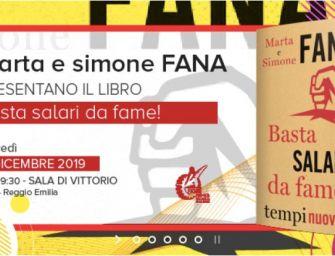 """Giovedì 19 dicembre alla Cgil di Reggio il libro """"Basta salari da fame!"""" di Marta e Simone Fana"""