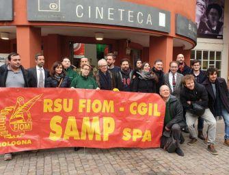 Ken Loach a Bologna fra gli operai