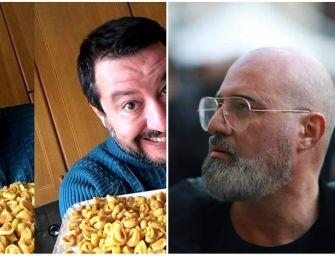 Bonaccini e Salvini a colpi di tortellini